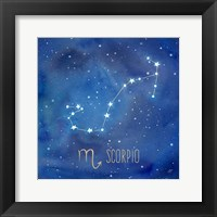 Framed Star Sign Scorpio