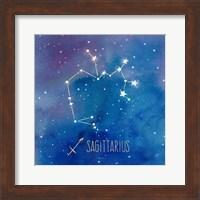 Framed Star Sign Sagitarius