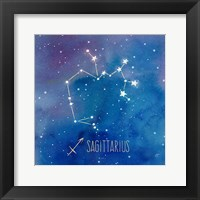 Framed Star Sign Sagitarius