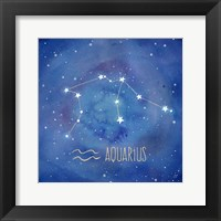Framed Star Sign Aquarius