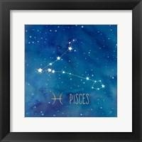 Framed Star Sign Pisces
