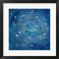 Framed Star Sign Earth