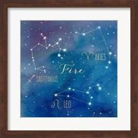 Framed Star Sign Fire