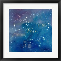 Framed Star Sign Fire
