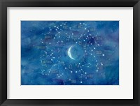 Framed Star Sign with Moon Landscape
