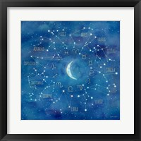 Framed Star Sign with Moon Square