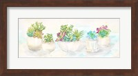 Framed Sweet Succulents Panel