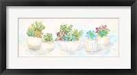 Framed Sweet Succulents Panel