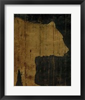 Framed Rustic Lodge Animals Bear