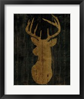 Framed Rustic Lodge Animals Deer Head