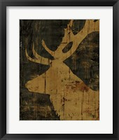 Rustic Lodge Animals Deer Framed Print