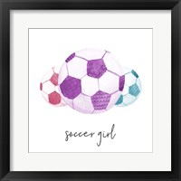 Framed Sports Girl Soccer