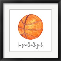 Framed Sports Girl Basketball