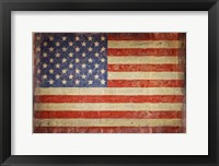 Framed Vintage Flag on Barnwood