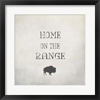 Framed Home on the Range