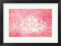 Framed Pink Chandelier