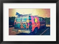 Framed Beach Van at Sunset
