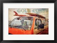Framed Gold Coast Surf Bus