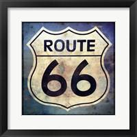 Framed Route 66 Sign