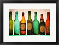 Framed Vintage Guiness Bottles
