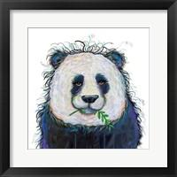 Framed Panda with Leaf