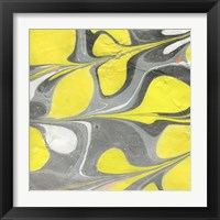 Framed Yellow and Gray Marble I