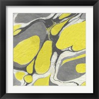 Framed Yellow and Gray Marble II