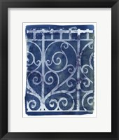 Framed Wrought Iron Cyanotype I