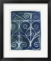Framed Wrought Iron Cyanotype II