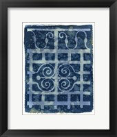 Framed Wrought Iron Cyanotype III