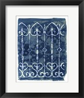Framed Wrought Iron Cyanotype IV