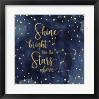Framed Oh My Stars III Shine Bright