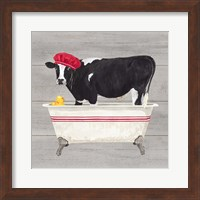 Framed Bath time for Cows Tub