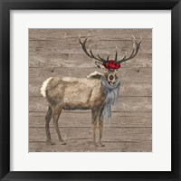 Warm in the Wilderness Deer Framed Print