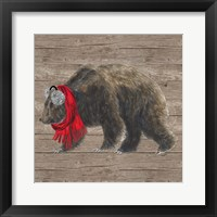 Warm in the Wilderness Bear Framed Print