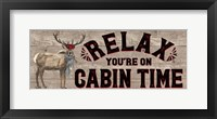 Framed Warm in the Wilderness Relax Sign