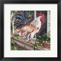 Framed French Country Rooster