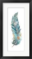 Tribal Feather Single III Framed Print
