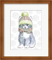 Framed Christmas Kitties II Snowflakes v2