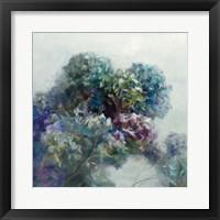 Framed Abstract Hydrangea