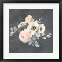 Framed Roses and Anemones Square