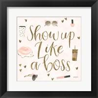 Boss Ladies VII Pink Framed Print