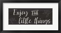Simple Signs I Black Framed Print