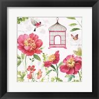Framed Pink Garden IV