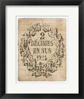 Framed Letter Crest II Vintage v2