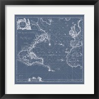 Framed Mar del Nort Blueprint