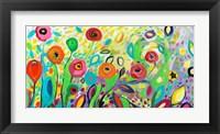 Framed Flower Garden Jazz