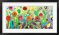 Framed Flower Garden Jazz