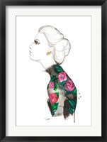 Framed Floral Turtleneck