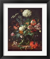 Framed Jan Davidsz de Heem, Vase of Flowers